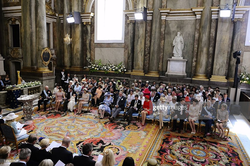 (First row, from L) Sweden's King Carl X : News Photo