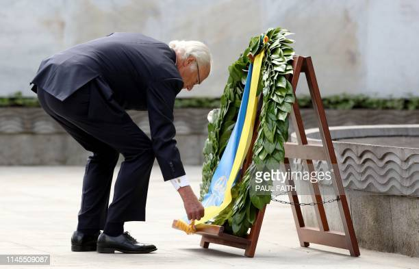 Sweden's King Carl XVI Gustaf lays a wreath in the Garden of Remembrance in Dublin on May 22 on the first day of a three-day State Visit to Ireland.