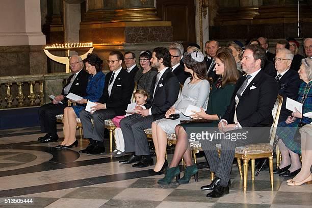 Sweden's King Carl XVI Gustaf of Sweden Queen Silvia of Sweden Prince Daniel Princess Estelle Prince Carl Philip Princess Sofia Princess Madeleine...
