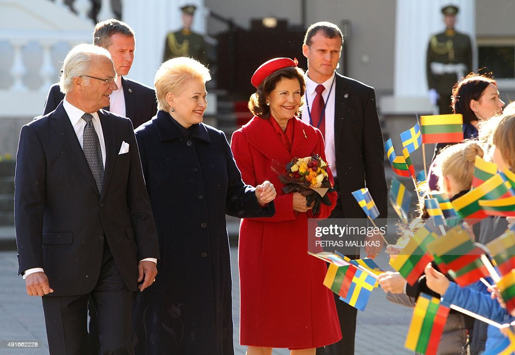 LITHUANIA-SWEDEN-ROYALS : News Photo