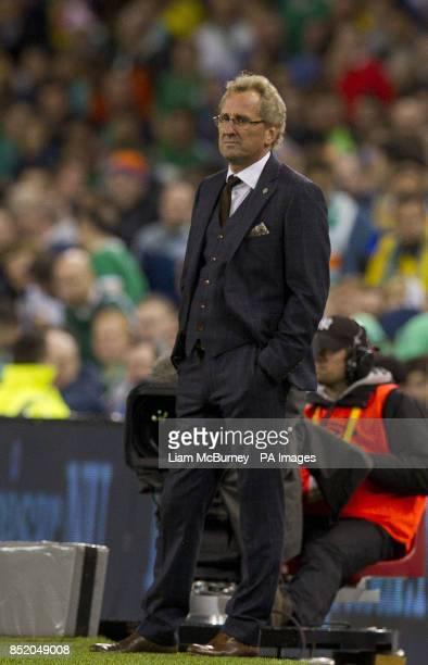 Sweden's manager Erik Hamren during the World Cup Qualifying Group C match at the Aviva Stadium Dublin Ireland