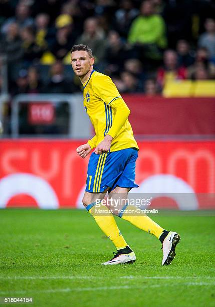 Swedens Marcus Berg during the international friendly between Sweden and Czech Republic at Friends Arena on March 29 2016 in Solna Sweden