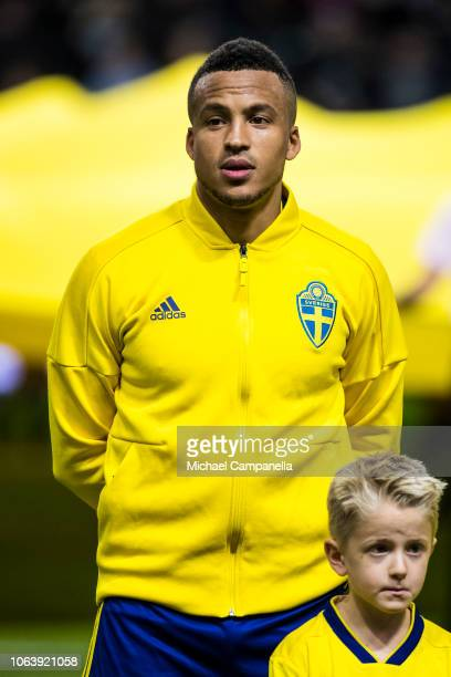 Sweden's Martin Olsson during the UEFA Nations League B group two match between Sweden and Russia at Friends Arena on November 20 2018 in Solna Sweden