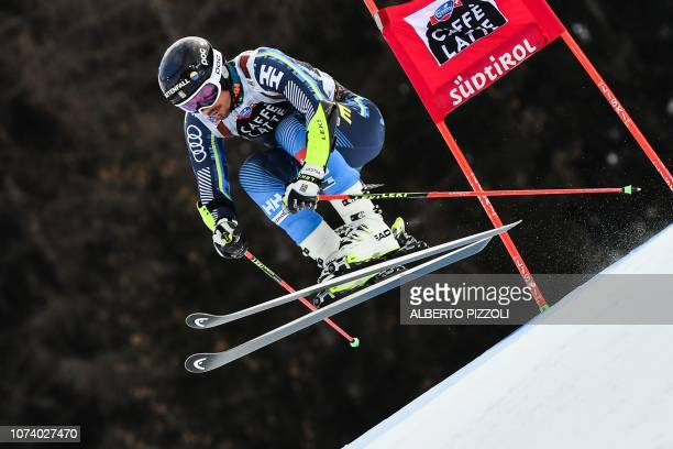 Sweden's Matts Olsson competes in the the FIS Alpine World Cup Men Giant Slalom on December 16, 2018 in Alta Badia, Italian Alps.