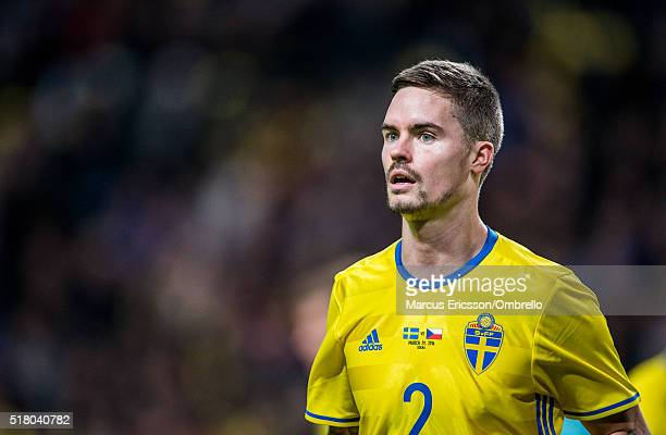 Swedens Mikael Lustig during the international friendly between Sweden and Czech Republic at Friends Arena on March 29 2016 in Solna Sweden