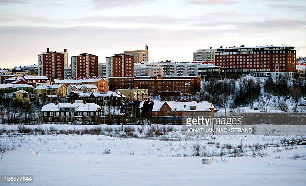 Sweden's northern town Kiruna situated in the province of Lapland is pictured on November 16 2012 AFP PHOTO/JONATHAN NACKSTRAND