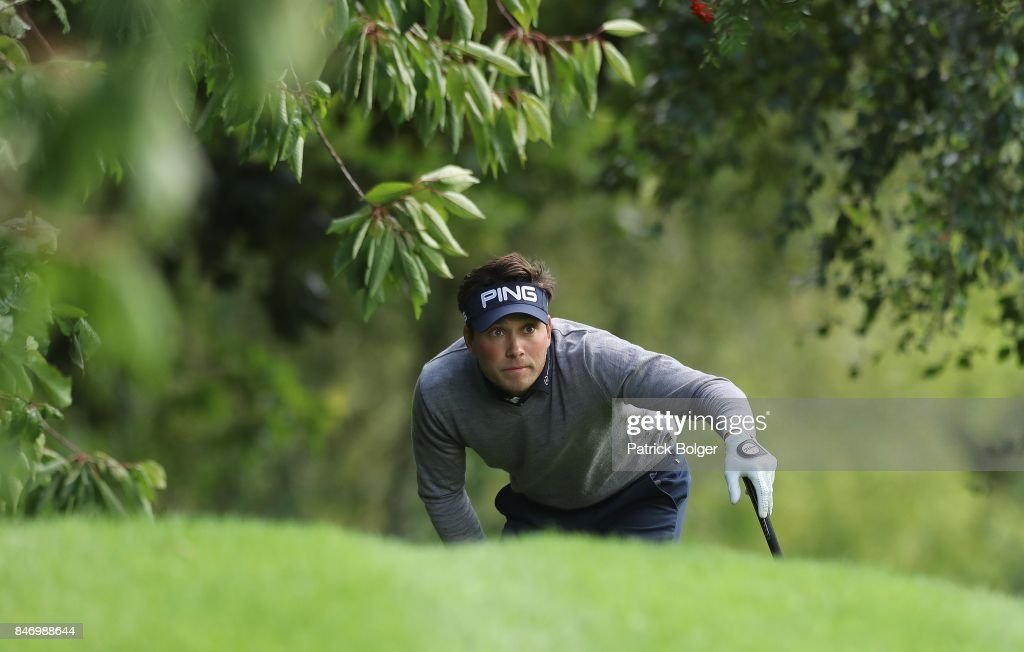 Sweden's Oscar Lengden during the first round of the 2017 Irish Challenge at Mount Wolseley Hotel Spa and Golf Resort on September 14, 2017 in Carlow, Ireland.