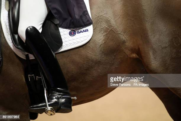 Sweden's Patrik Kittel riding Delaunay Old wins the FEI World Cup Dressage Grand Prix Freestyle during day two of the London International Horse Show...