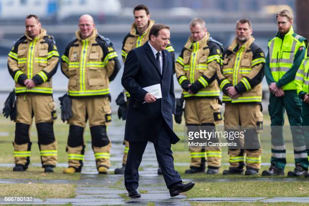 Sweden's Prime Minister Stefan Lofven attends the city of Stockholm's official ceremony for the victims of the recent terrorist attack on April 10...