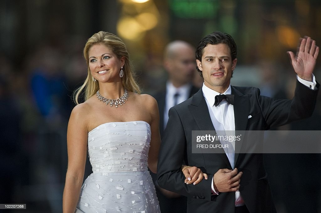 Sweden's Princess Madeleine and her brother Prince Carl Philip (R) arrive for a gala performance at the Stockholm Concert Hall in Stockholm on June 18, 2010, at the start of the weekend's wedding celebrations. Less than half Sweden's population now supports the monarchy, and a quarter thinks it a bad thing, a poll showed today amid preparations for Crown Princess Victoria's nuptials this weekend.