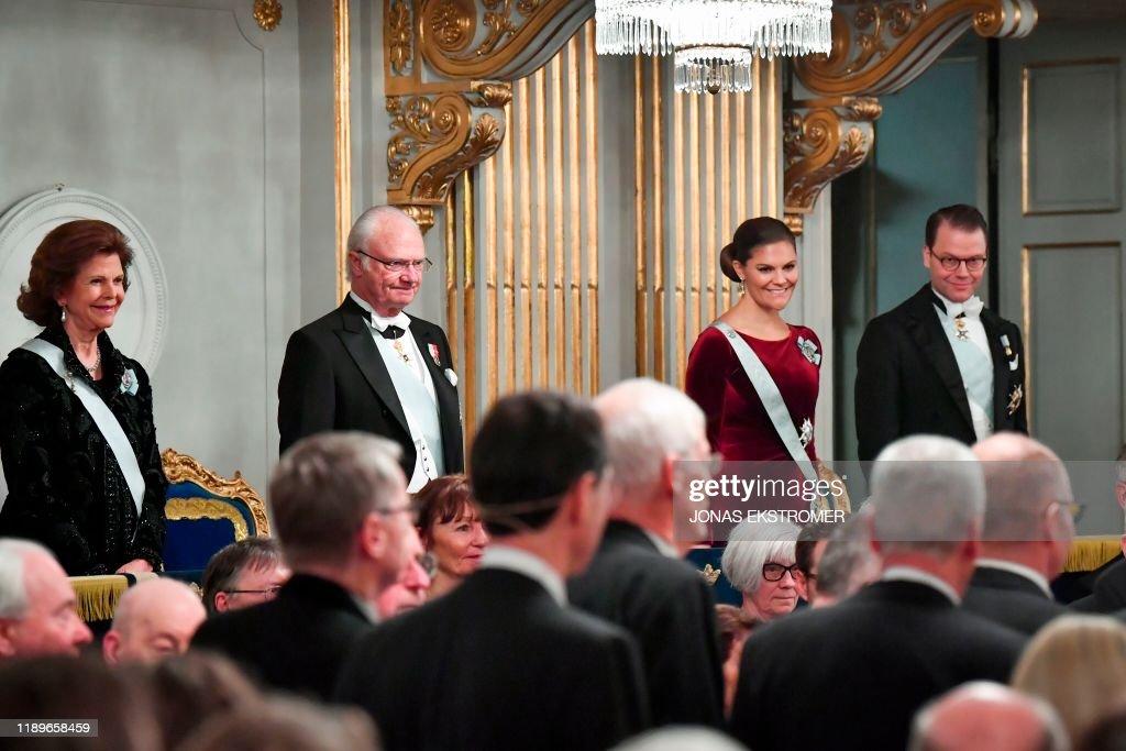 SWEDISH-ACADEMY-GRAND-CEREMONY : News Photo