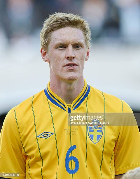 Sweden's Rasmus Elm poses before the international friendly football match between Sweden and Iceland at Gamla Ullevi stadium in Gothenburg on May 30...