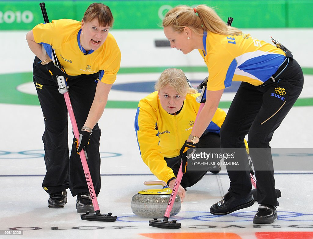 Anette Norberg sweden's skip anette norberg throws the stone during their
