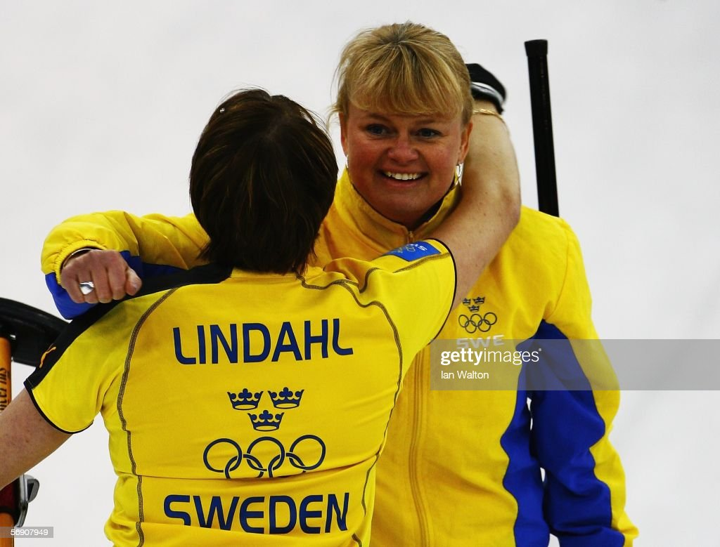 Anette Norberg swedens skiper anette norberg celebrates with cathrine