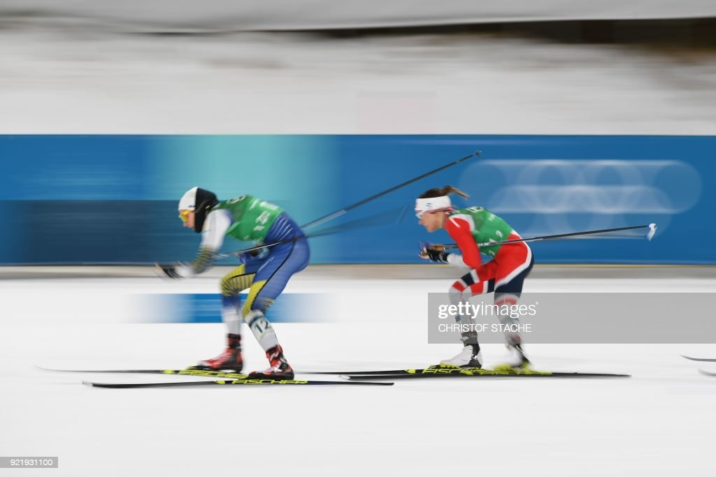 TOPSHOT-CCOUNTRY-OLY-2018-PYEONGCHANG : News Photo