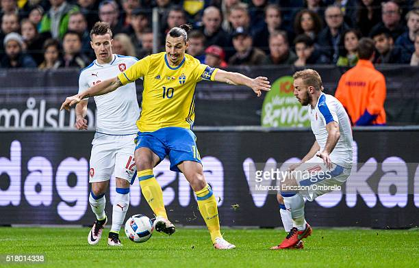 Sweden's Zlatan Ibrahimovic during the international friendly between Sweden and Czech Republic at Friends Arena on March 29 2016 in Solna Sweden