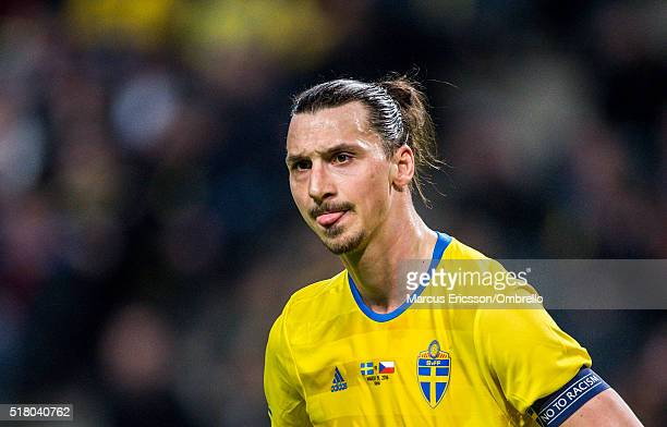 Swedens Zlatan Ibrahimovic during the international friendly between Sweden and Czech Republic at Friends Arena on March 29 2016 in Solna Sweden
