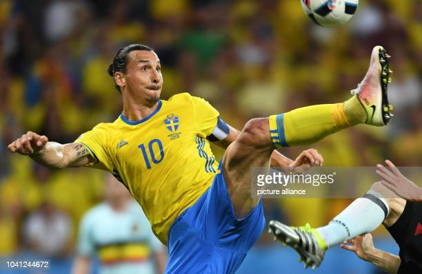 Sweden's Zlatan Ibrahimovic is seen during the UEFA Euro 2016 Group E soccer match between Sweden vs at the Stade de Nice in Nice France 22 June 2016...