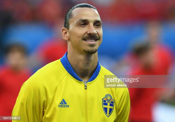 Sweden's Zlatan Ibrahimovic smiles prior to the UEFA Euro 2016 Group E soccer match between Sweden vs at the Stade de Nice in Nice France 22 June...