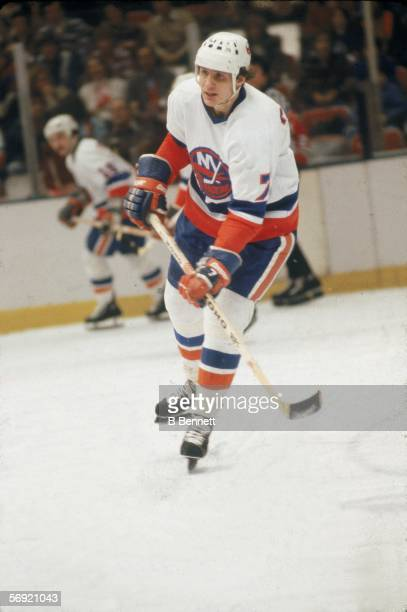 Swediah hockey player Stefan Persson of the New York Islanders on the ice during a game at Nassau Coliseum Uniondale New York February 1979