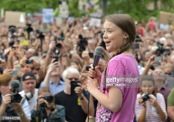DEU: Greta Thunberg Joins Fridays For Future Protest