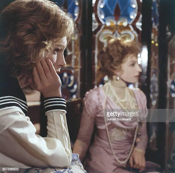 Swedish actor Bjorn Andresen and Italian actress Silvana Mangano on the set of Morte a Venezia written and directed by Italian Luchino Visconti