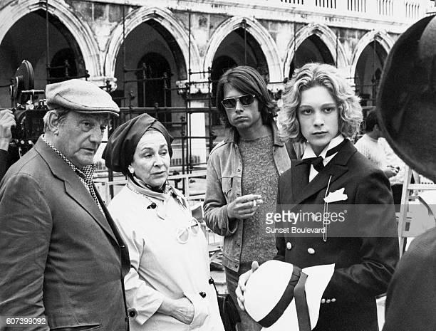 Swedish actor Bjorn Andresen and Italian director and screenwriter Luchino Visconti on the set of Visconti's movie Morte a Venezia