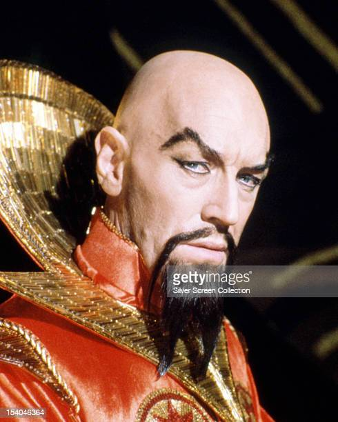 Swedish actor Max von Sydow as Emperor Ming the Merciless in 'Flash Gordon' directed by Mike Hodges 1980