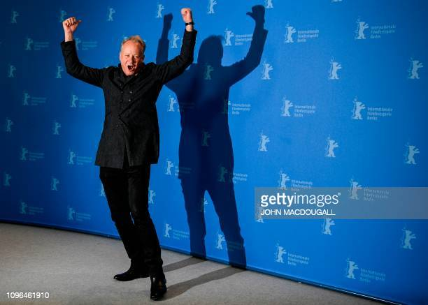 Swedish actor Stellan Skarsgard poses during a photocall for the film Out stealing horses presented in competition at the 69th Berlinale film...