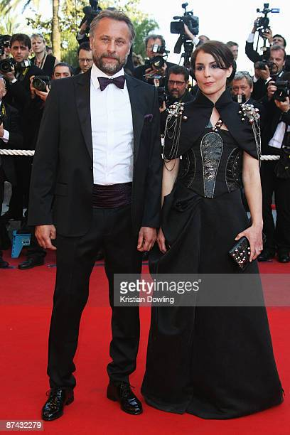 Swedish actors Michael Nyqvist and Noomi Rapace attend the A Prophet Premiere held at the Palais Des Festivals during the 62nd International Cannes...