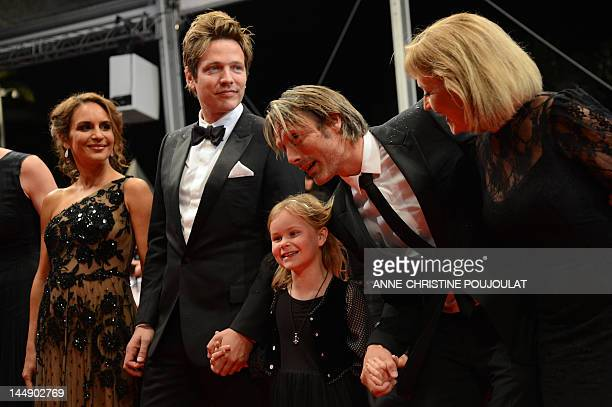 Swedish actress Alexandra Rapaport , Danish director Thomas Vinterberg , Danish actor Mads Mikkelsen and actress Susse Wold arrive for the screening...