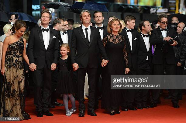 Swedish actress Alexandra Rapaport Danish director Thomas Vinterberg actress Danish actor Mads Mikkelsen and actress Susse Wold arrive for the...