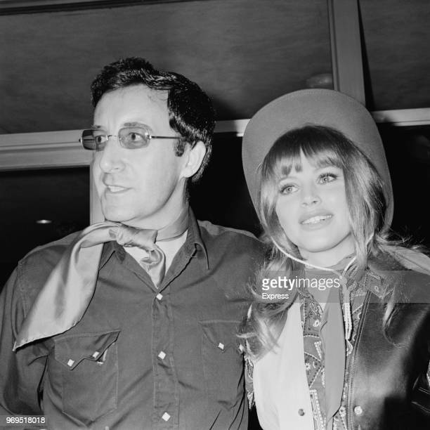 Swedish actress and singer Britt Ekland with her husband English film actor comedian and singer Peter Sellers at a party organised in support of...