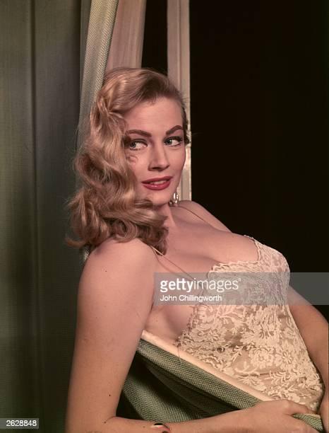 Swedish actress Anita Ekberg Original Publication Picture Post 8187 Picture Post Thaws Miss Iceberg pub 1955