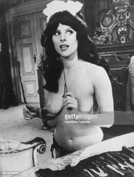 Swedish actress Anna Bergman the daughter of filmmaker Ingmar Bergman filming a scene for the adult comedy 'Agent 69 in the Sign of Scorpio' 1977