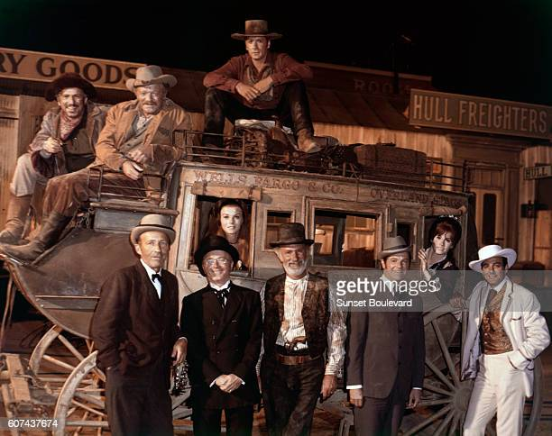 Swedish actress AnnMargret American actors Slim Pickens Van Heflin Alex Cord Bing Crosby Red Buttons Keenan Wynn Robert Cummings Stefanie Powers and...
