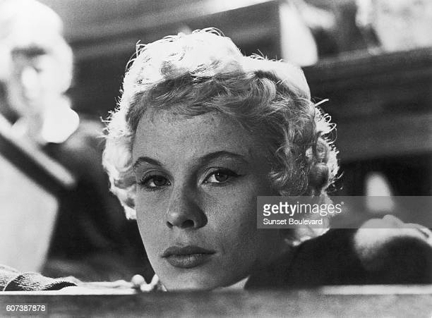 Swedish actress Bibi Andersson on the set of Smultronstället written and directed by Ingmar Bergman
