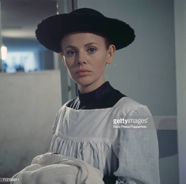 Swedish actress Britt Ekland pictured dressed in character as Antigone during production of the film 'The Cannibals' in Rome Italy on 4th March 1969