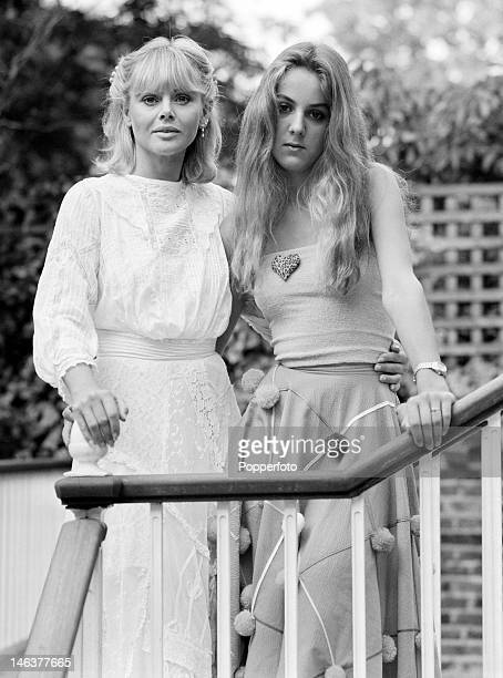 Swedish actress Britt Ekland with her daughter Victoria in London 27th July 1980