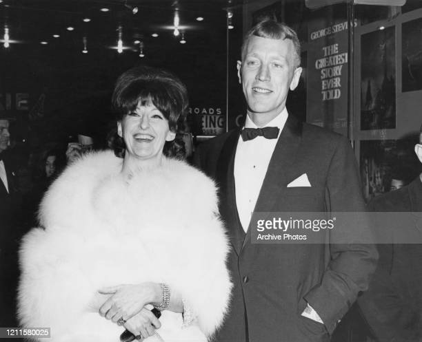 Swedish actress Christina Olin and SwedishFrench actor Max von Sydow at the premiere of 'The Greatest Story Ever Told' in Hollywood Los Angeles US...