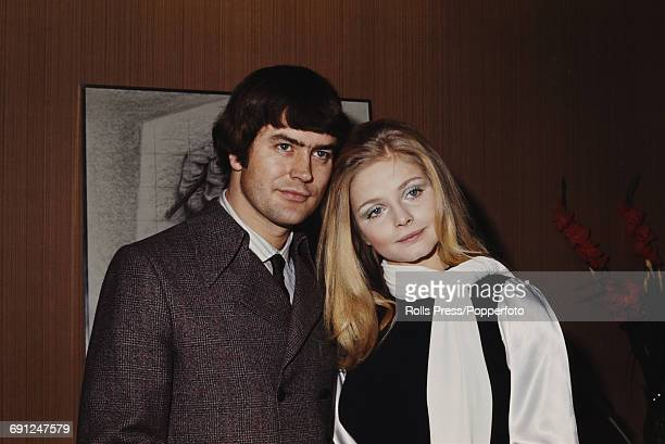 Swedish actress Ewa Aulin pictured with her husband British writer and director John Shadow in Rome Italy in 1969