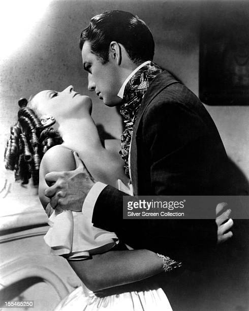 Swedish actress Greta Garbo as Marguerite Gautier and American actor Robert Taylor as Armand Duval in 'Camille' directed by George Cukor 1936