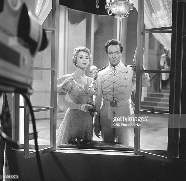 Swedish actress Inger Stevens and Canadian actor Christopher Plummer in a scene from 'The DuPont Show of the Month' television movie of Anthony...
