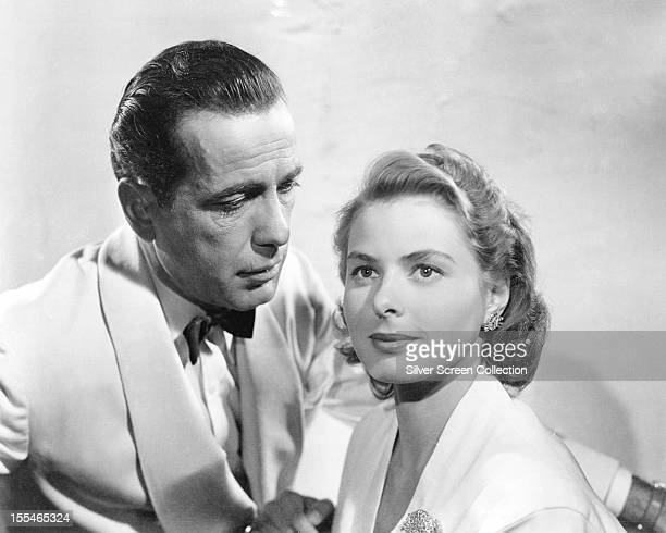 Swedish actress Ingrid Bergman and American actor Humphrey Bogart in a promotional portrait for 'Casablanca', directed by Michael Curtiz, 1942.