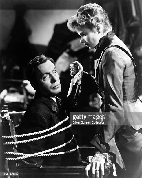 Swedish actress Ingrid Bergman as Paula Alquist Anton and Charles Boyer as Gregory Anton in the film 'Gaslight' directed by George Cukor 1944