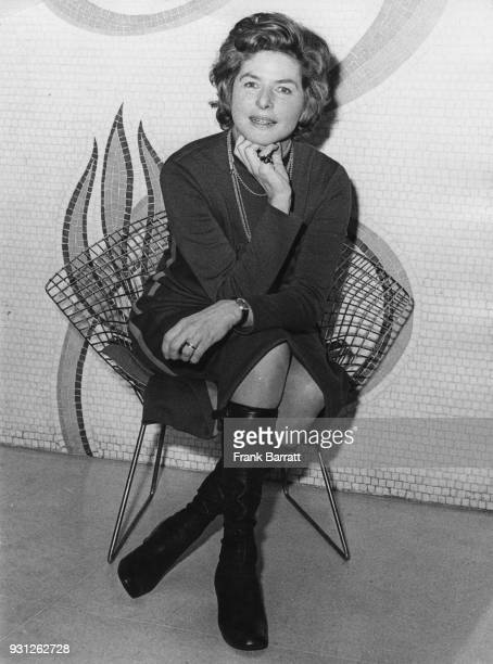 Swedish actress Ingrid Bergman at a reception in London January 1971 She is returning to the London stage to play Lady Cicely Waynflete in George...