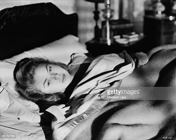 Swedish actress Ingrid Bergman in a scene from Alfred Hitchcock's psychological thriller 'Spellbound'.