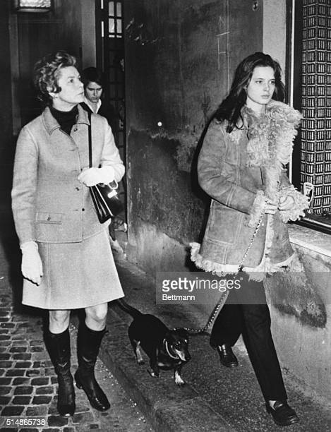 Swedish actress Ingrid Bergman is seen Feb. 5 with her daughter Isabella during a shopping tour in the fashionable Via Borgognona. Partially visible...