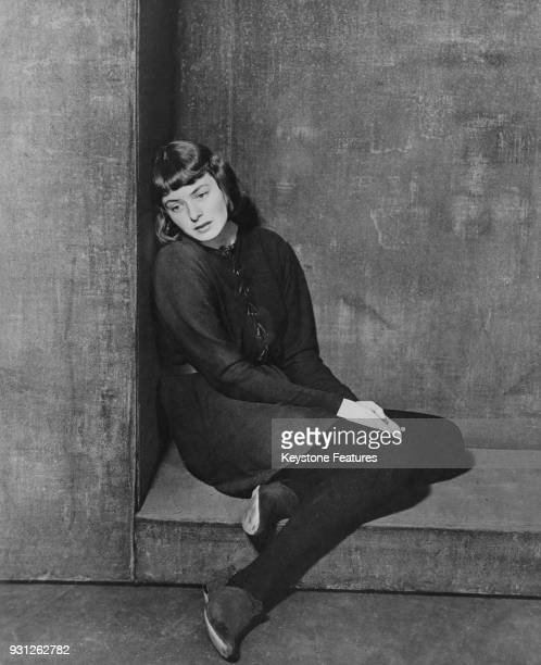 Swedish actress Ingrid Bergman plays actress Mary Grey who is playing Saint Joan of Arc in the Maxwell Anderson play 'Joan of Lorraine' on the US...