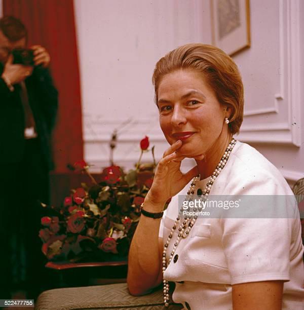 Swedish actress Ingrid Bergman posed in London in 1964